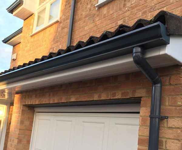 Guttering works in Bedford